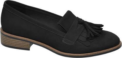 Graceland Zwarte loafer franjes