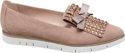 Graceland rosé loafers versierd