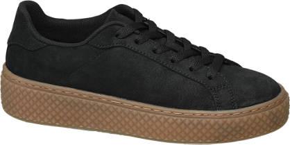 Graceland Zwarte plateau sneaker