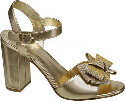 Graceland Gouden sandalette strik