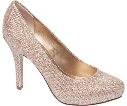 Graceland Rosé gouden pump glitters