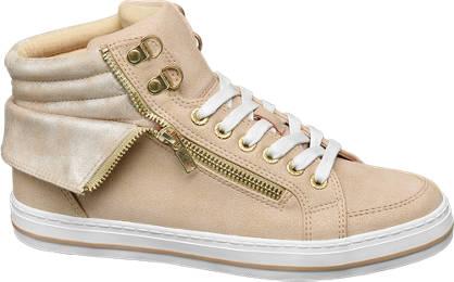 Venice Lichtroze halfhoge sneaker