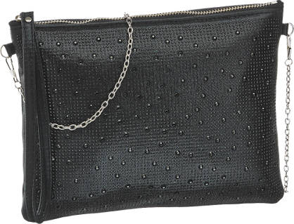 Graceland Zwarte clutch steentjes