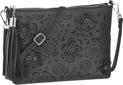 Graceland Zwarte clutch perforatie