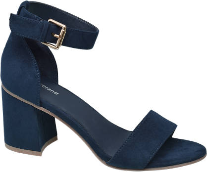 Graceland Blauwe sandalette gespsluiting