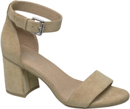 Graceland Beige sandallette gespsluiting