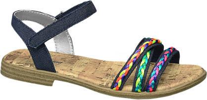 Graceland Zwarte sandaal sierbandjes