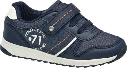 Bobbi-Shoes Donkerblauwe sneaker klittenband