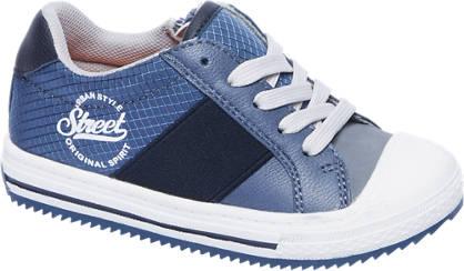 Bobbi-Shoes Blauwe nubuck sneaker