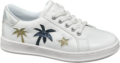 Cupcake Couture Witte sneaker glitterdetails