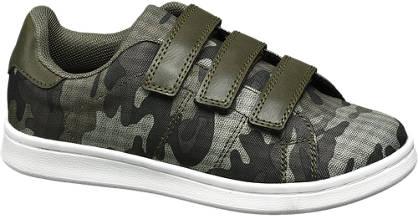 Agaxy Groene sneaker camouflage print