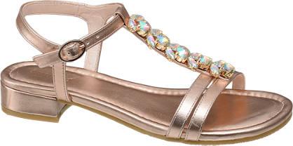 Graceland Rosè sandaal kristal