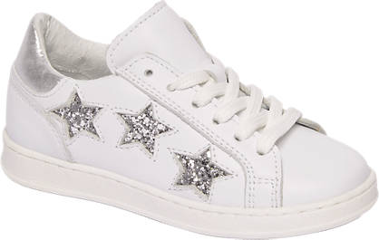 Cupcake Couture Witte leren sneakers glitter