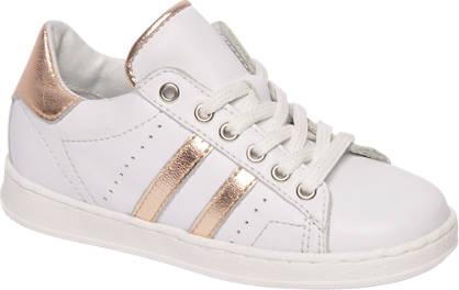 Cupcake Couture Witte leren sneaker metallic