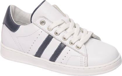 Bobbi-Shoes Witte leren sneaker ritssluiting