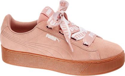 Puma Vikky Platform Ribbon Lædersneaker