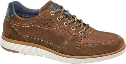 Gallus Bruine leren sneaker