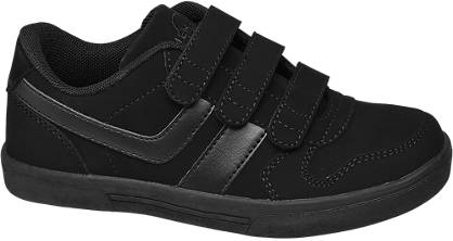 Bobbi-Shoes Zwarte sneaker klittenband
