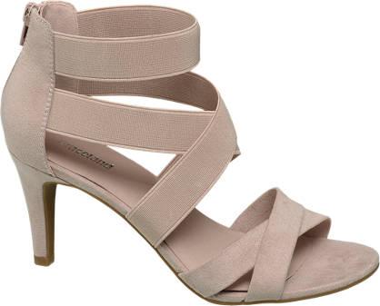 Graceland Rosè sandalette elastiek