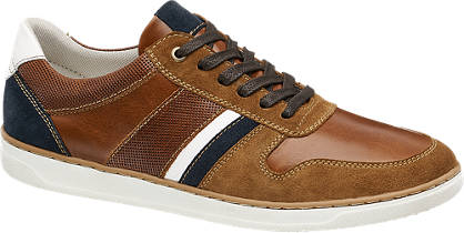 AM shoe Bruine leren sneaker