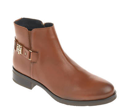 Tommy Hilfiger Stiefelette - TH BUCKLE LEATHER BOOTIE
