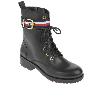 Tommy Hilfiger Schnürboots - CORPORATE BETT BIKER BOOT