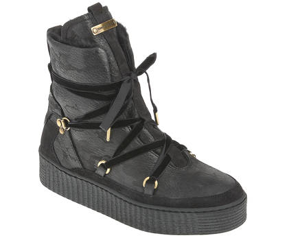 Tommy Hilfiger Schnürboots - COZY WARMLINED LEATHER BOOT