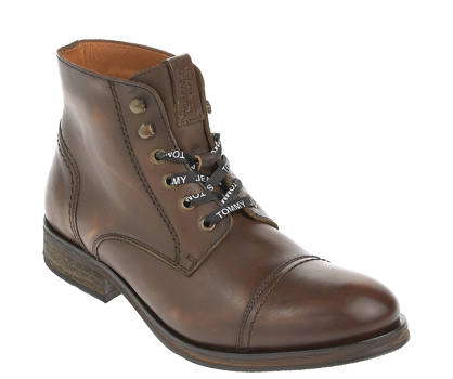 Tommy Jeans Schnürboots - DRESSY LEATHER LACEUP BOOT