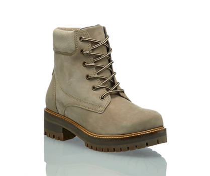 Oxmox Oxmox boot à lacet femmmes taupe