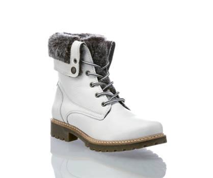 Oxmox Oxmox boot à lacet femmes blanc