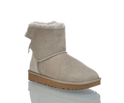 Ugg UGG Bailey Bow 2 boot donna grigio