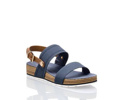 Bench Bench Damen Flache Sandalette Blau