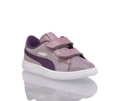 Puma Puma Smash Glitz sneaker bambina viola