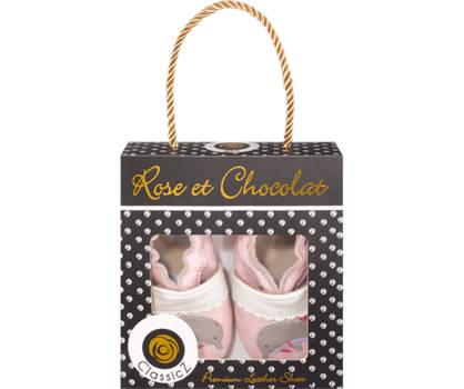 Rose & Chocolat Dolphin Mädchen Slipper Rosa