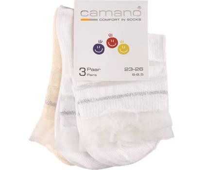 Camano Camano 3er Pack Mädchen Socken 23-26; 27-30; 31-34