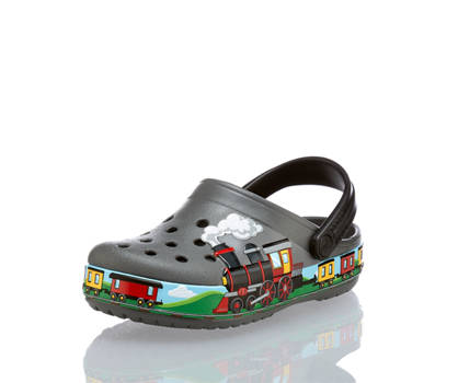 Crocs Crocs Funlab Train Band Jungen Clog Grau