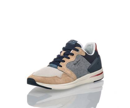Pepe Jeans Pepe Jeans Aker Dual D-Limit Herren Sneaker Beige