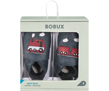Bobux New Zealand Bobux Train Jungen Slipper Navyblau