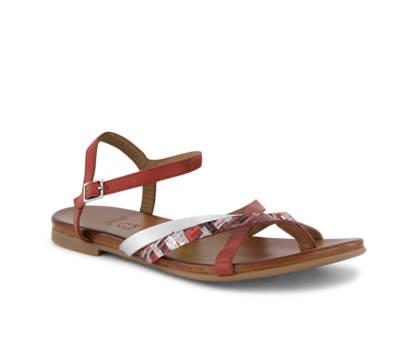 Varese Varese Almira sandalette plate femmes rouge