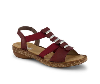 Rieker Rieker sandalette haute femmes rouge