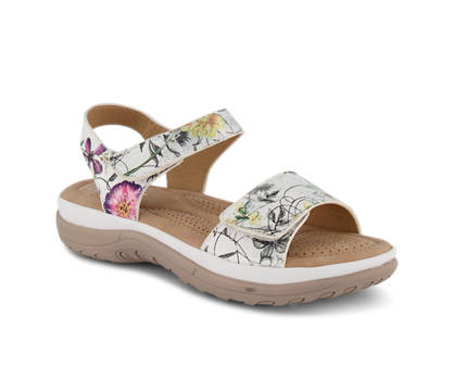Rieker Rieker sandalette plate femmes blanc