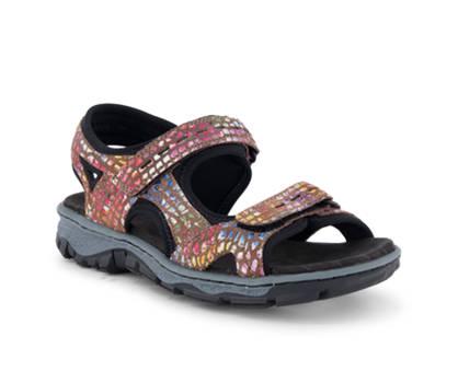 Rieker Rieker sandalette plate femmes brun