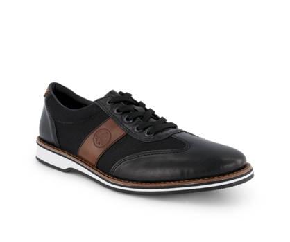 Rieker Rieker chaussure à lacet hommes noir