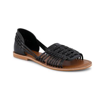 Varese Varese Petra sandalette plate femmes noir