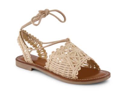Varese Varese Petra sandalette plate femmes beige