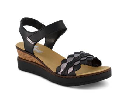 Rieker Rieker sandaletto alto donna nero