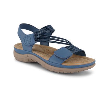 Rieker Rieker sandalette plate femmes bleu