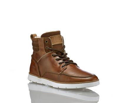 AM Shoe AM Shoe Herren Schnürboot Cognac