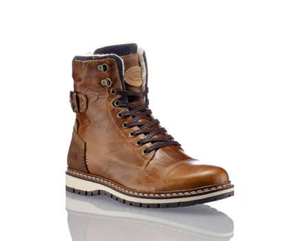 AM Shoe AM Shoe Tano boot da allacciare uomo cognac