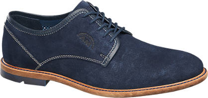 AM shoe Blauwe suède veterschoenen